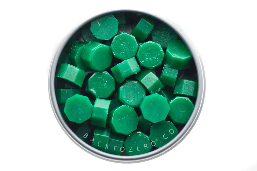 Emerald Octagon Sealing Wax Beads - Sealing Wax - Backtozero