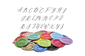 Floral Deco Monogram Wax Seal Stamp - Wax Seal Stamp - Backtozero