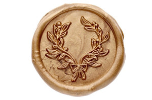 Floral Wreath Wax Seal Stamp - Wax Seal Stamp - Backtozero
