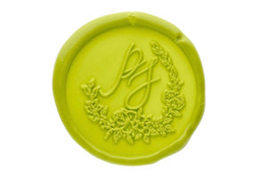 Floral Wreath Monogram Wax Seal Stamp