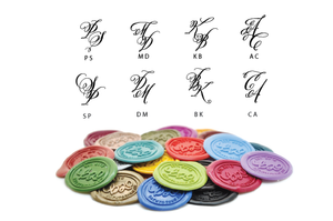 Personalized Calligraphy Double Initials Wax Seal Stamp - Backtozero