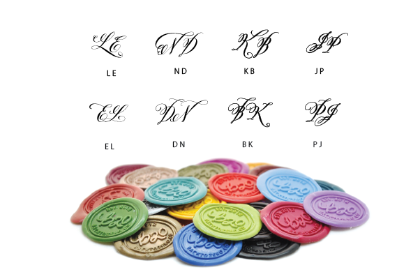 Personalized Calligraphy Double Initials Wax Seal Stamp - Wax Seal Stamp - Backtozero