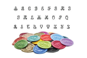 Floral Triple Initials Monogram Wax Seal Stamp - Wax Seal Stamp - Backtozero