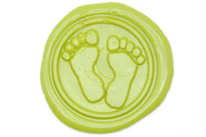 Footprints Wax Seal Stamp - Wax Seal Stamp - Backtozero