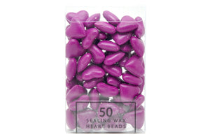 Fuchsia Sealing Wax Heart Bead - Sealing Wax - Backtozero