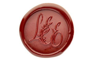 Botanical Triple Initials Monogram Wax Seal Stamp - Wax Seal Stamp - Backtozero
