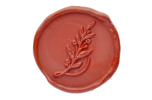 Botanical Initial Wax Seal Stamp - Backtozero