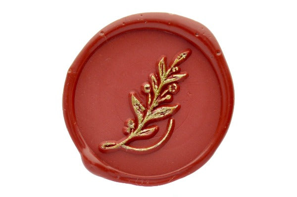 Botanical Initial Wax Seal Stamp - Wax Seal Stamp - Backtozero