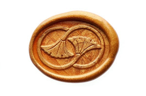 Infinity Ginkgo Wax Seal Stamp - Wax Seal Stamp - Backtozero