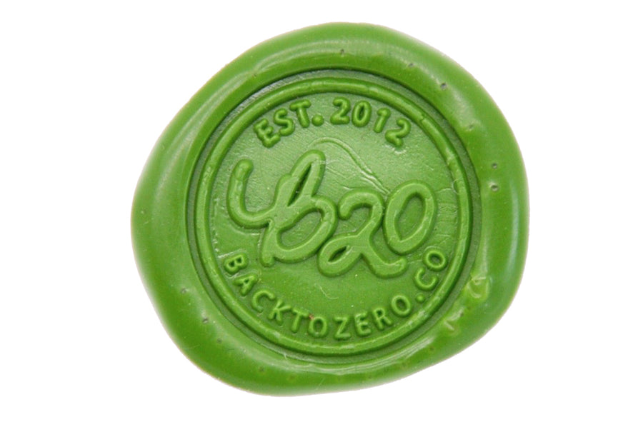 Grass Green Wick Sealing Wax Stick - Sealing Wax - Backtozero