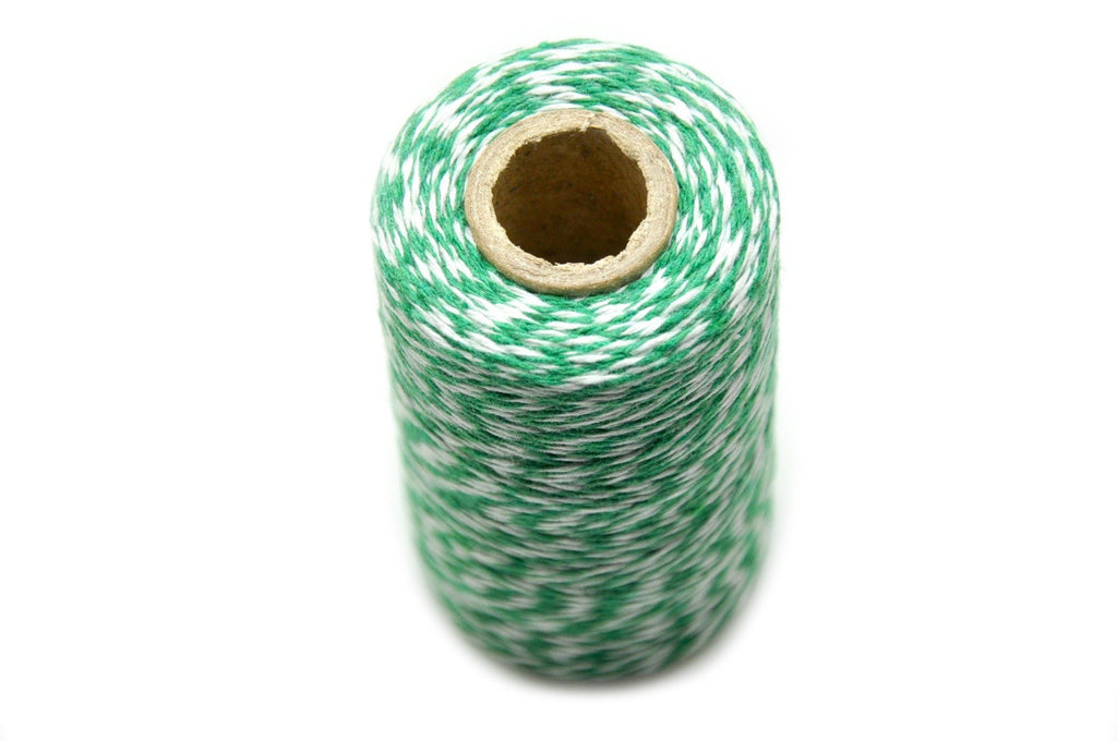 Green/White Baker's Twine - Twine - Backtozero