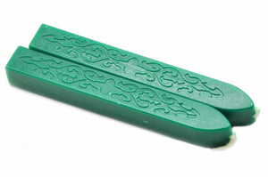 Green Filigree Wick Sealing Wax Stick - Sealing Wax - Backtozero