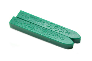 Deep Green Non-Wick Filigree Sealing Wax Stick, Backtozero  - 1