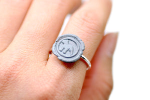 OOAK Pitbull Wax Seal Ring - Wax Seal Ring - Backtozero