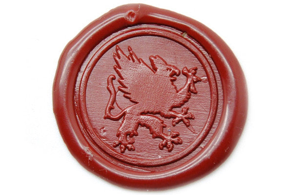 Heraldic Griffin Wax Seal Stamp - Wax Seal Stamp - Backtozero