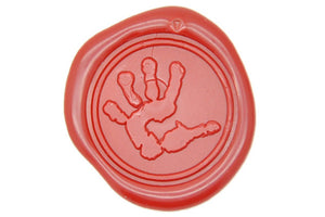 Handprint Wax Seal Stamp - Wax Seal Stamp - Backtozero