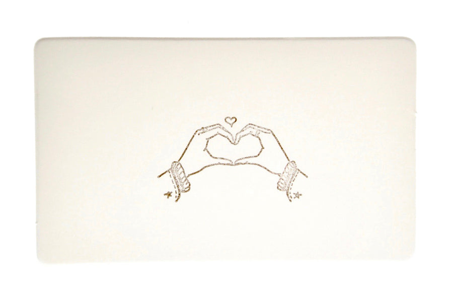 Hand Gesture Rubber Stamp | Make a Heart - Rubber Stamp - Backtozero