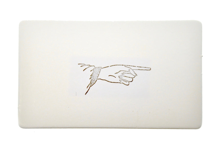 Hand Gesture Rubber Stamp | Point - Rubber Stamp - Backtozero