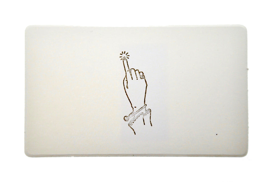 Hand Gesture Rubber Stamp | Touch - Rubber Stamp - Backtozero