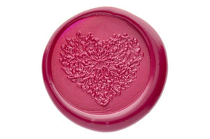 Floral Heart Wax Seal Stamp - Wax Seal Stamp - Backtozero