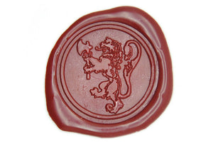 Heraldic Lion with Axe Wax Seal Stamp - Wax Seal Stamp - Backtozero