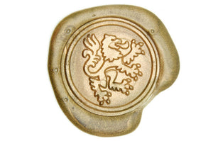 Heraldic Lion Wax Seal Stamp - Wax Seal Stamp - Backtozero