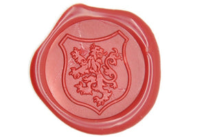 Heraldic Lion Shield Wax Seal Stamp - Wax Seal Stamp - Backtozero