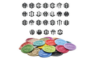 Hexagon Triple Initials Linked Monogram Wax Seal Stamp