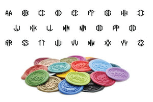 Hexagon Double Initials Linked Monogram Wax Seal Stamp
