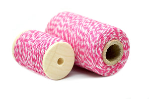 Hot Pink/White Baker's Twine - Twine - Backtozero