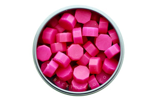 Hot Pink Octagon Sealing Wax Beads - Sealing Wax - Backtozero