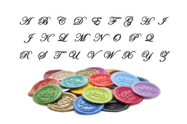 Script Initial Wax Seal Stamp | Available in 4 Sizes, Backtozero  - 5