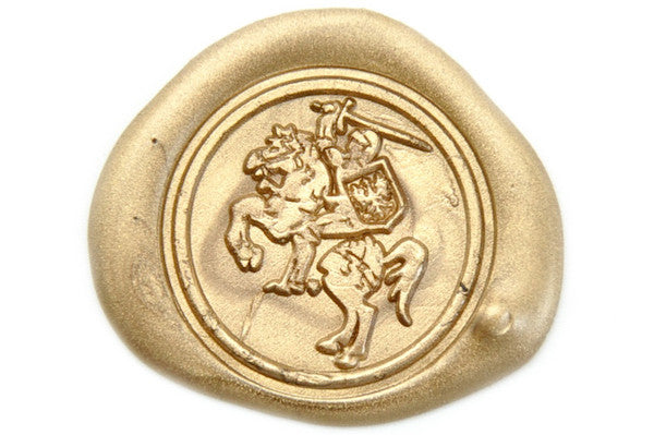 Knight Horse Heraldic Wax Seal Stamp Backtozero