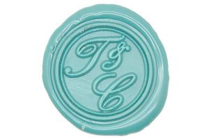 Double Initials Ampersand Wax Seal Stamp - Wax Seal Stamp - Backtozero