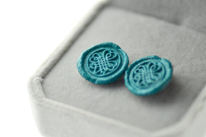 OOAK Shamrock Wax Seal Earrings - Wax Seal Earrings - Backtozero