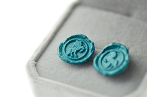 OOAK Horse Wax Seal Earrings - Wax Seal Earrings - Backtozero