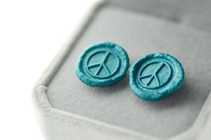 OOAK Peace Wax Seal Earrings - Wax Seal Earrings - Backtozero