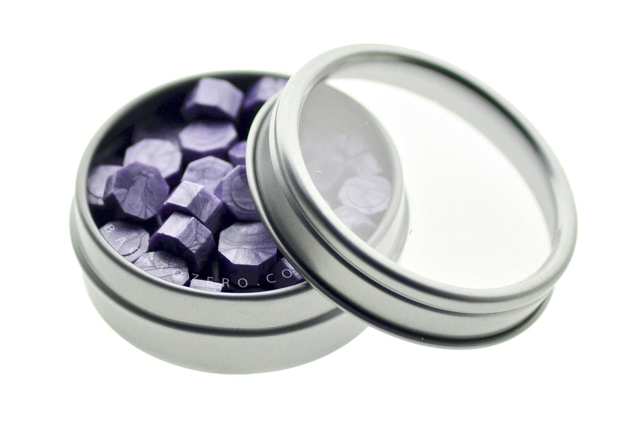Lavender Octagon Sealing Wax Beads - Sealing Wax - Backtozero