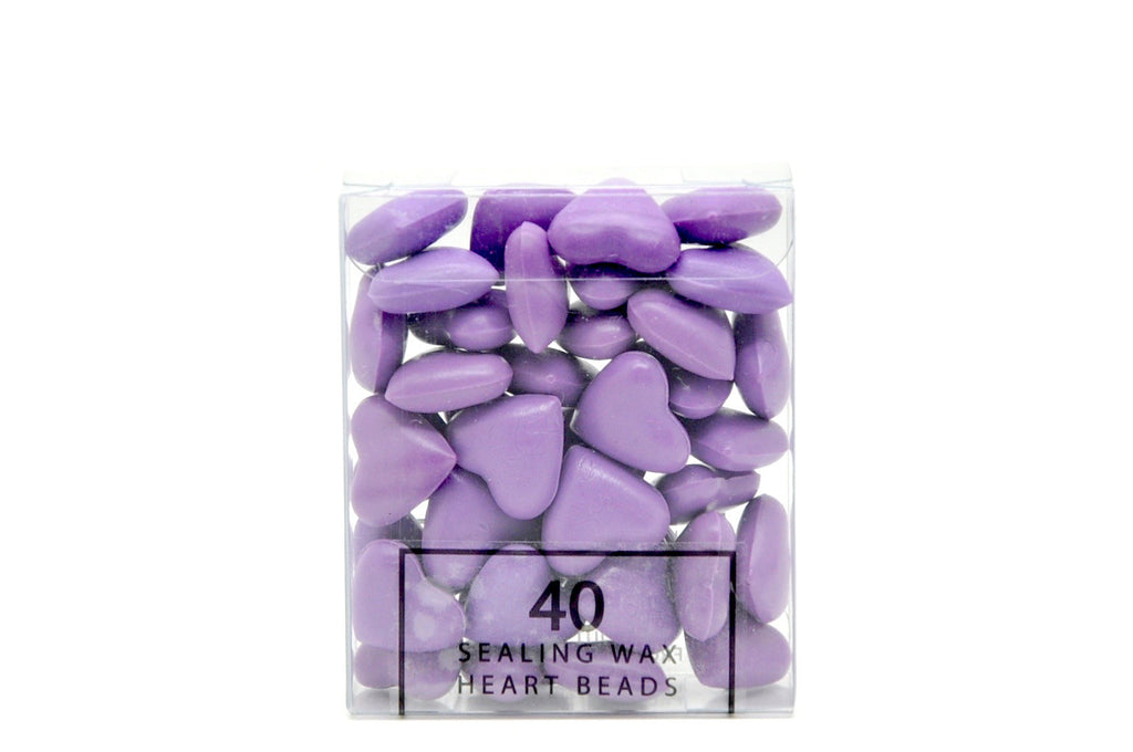 Lavender Sealing Wax Heart Bead, Backtozero  - 5
