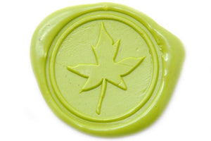 Leaf Wax Seal Stamp - Wax Seal Stamp - Backtozero