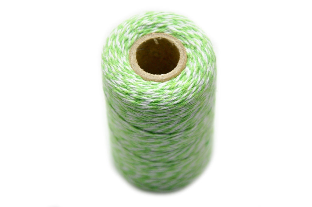 Light Green/White Baker's Twine, Backtozero  - 3