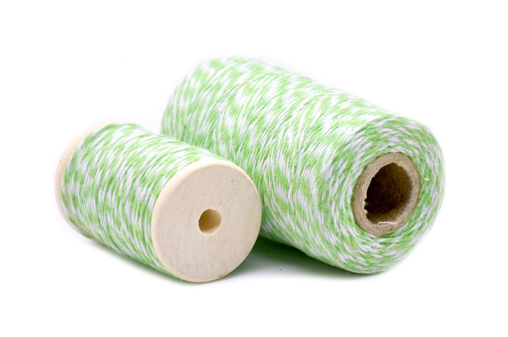 Light Green/White Baker's Twine, Backtozero  - 1