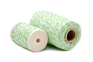 Light Green/White Baker's Twine - Twine - Backtozero
