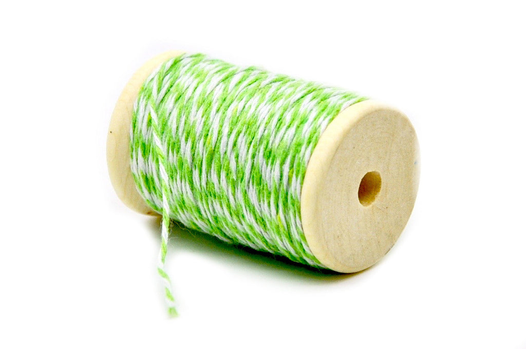 Light Green/White Baker's Twine, Backtozero  - 2
