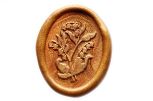 Lilly of the Valley Wax Seal Stamp - Wax Seal Stamp - Backtozero