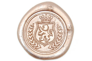 Lion Crest Wax Seal Stamp - Wax Seal Stamp - Backtozero