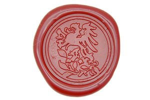 Heraldic Winged Lion Wax Seal Stamp - Wax Seal Stamp - Backtozero