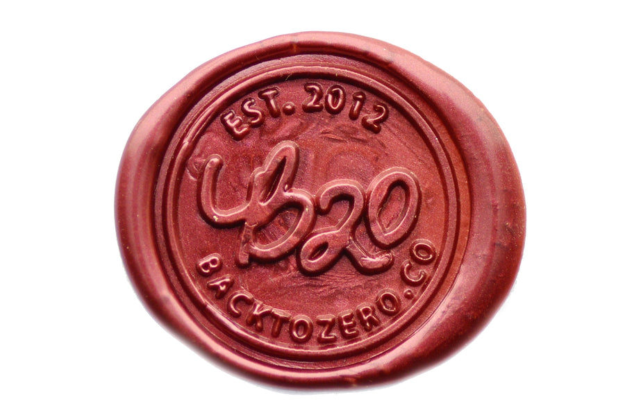 Maroon Non-Wick Filigree Sealing Wax Stick - Sealing Wax - Backtozero