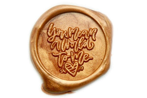 You Mean A World To Me Wax Seal Stamp - Wax Seal Stamp - Backtozero