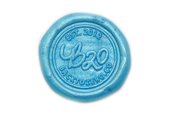 Metallic Sky Blue Octagon Sealing Wax Beads - Sealing Wax - Backtozero